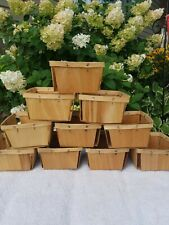 12 Vintage Wooden Strawberry Berry Fruit Quart Boxes Baskets. Never used.