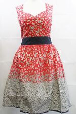 Eucalyptus Spring / summer dress - Red size Small Size UK 10  rrp £85 Box71 16 K