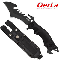 Oerla Field Knife Fixed Blade with G10 Handle/Punch Point/Bottle Opener