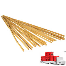 Hydrofarm 3ft Natural Bamboo Stake pack of 25 Garden Stake, New New