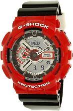 G Shock GA110RD-4A Analog & Digital Red Bezel Black Strap Men's Watch