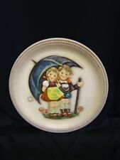 """Hummel Anniversary Plate """"Stormy Weather"""" 1975 First Edition Hand Painted"""