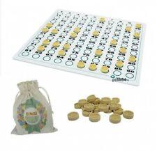 Kit de tirage manuel pour jeu de loto : 90 jetons + plateau de contrôle + sac