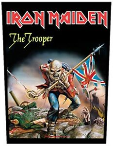 Iron Maiden The Trooper Géant à Coudre Backpatch 360 MM X 300 MM ( Rz )