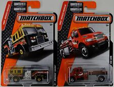 2016 Matchbox: Pierce Dash & Freightliner M2 106 FIRE ENGINES - 2 Truck Car LOT