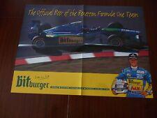 BIRRA BITBURGER UFFICIALE BENETTON Michael Schumacher AUTOSPORT POSTER