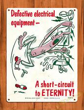 """TIN-UPS TIN SIGN """"Short Circuit"""" Electrical Tools Vintage Man Cave"""