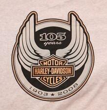 VINTAGE HARLEY DAVIDSON MOTORCYCLE 105 YEARS ANNIVERSARY T SHIRT TEE SZ 3XL NEW