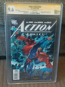 ACTION COMICS #844 VARIANT CGC SS X2  NM ! KUBERT & MOOSE (RARE SIGNATURE) KEY!