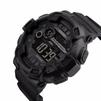 Men Military Sport Waterproof Alarm Stopwatch LED Quartz Countdown Digital Watch
