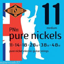 Rotosound PN11 Pure nickel cordes pour guitare électrique 11-48 medium