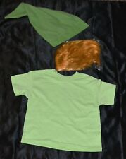 Link From Zelda Shirt Wig & Hat Halloween Costume Kids Boys Size: 4-5 XS Youth