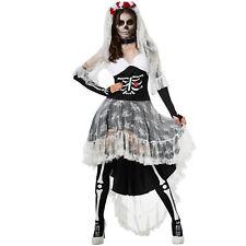 Disfraz de Mujer Zombie Novia Esqueleto Espeluznante Novia Fantasma Terror Ca...