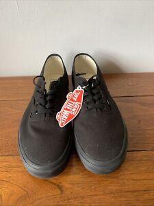 Vans authentic black UK 11. Brand New