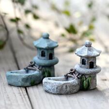 Mini Pool Tower Figurine Resins Craft Statue Garden Ornaments Home Decoration