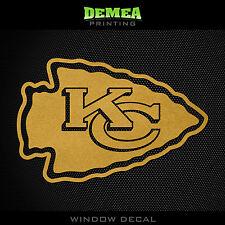 """Kansas City Chiefs NFL -  Gold Vinyl Sticker Decal 5"""""""