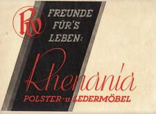 LEATHER FURNITURE Sofas Chairs RHENANIA Vintage ILLUSTRATED CATALOG Germany 1930