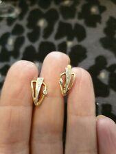 14k Russian Rose Gold Diamond Earrings.