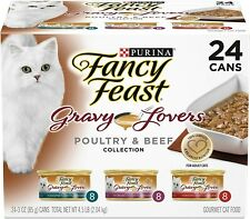 Purina Fancy Feast Wet Gravy Lovers Cat Food Variety Pack, Poultry & Beef - P...