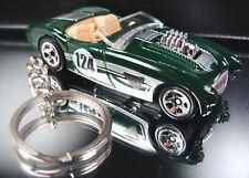 Dark Green Austin Healey 100 Key Chain Ring Diecast