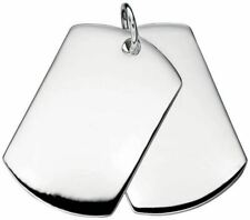 Beginnings Mens Double Dog Tag Pendant - Silver