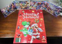 Super Smash Bros Mini Poster & Mario Yoshi Happy Holidays Poster Nintendo Switch