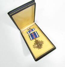 New ListingWw Ii Distinguished Flying Cross Dfc Medal Set Coffin Case Sewn Brooch 1C3