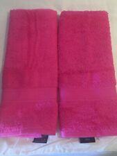 "Set of 2 Tommy Hilfiger Bright Pink 15"" x 28"" Hand Towels  NWOT"