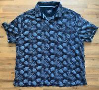 Mens Nat Nast Hawaiian Camp Shirt Blue Luxury Originals Silk/Cotton Blend XXL