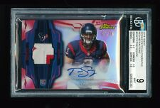 1/1 BGS 9 TOM SAVAGE 2014 TOPPS FINEST RED REFRACTOR TEXANS PATCH AUTO /75 POP 1