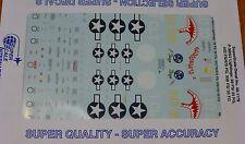 Microscale Decal 1:48 Scale #48-1179 / P-38H/J Lightings: 39 FS/ 35 FG, 432 FS/