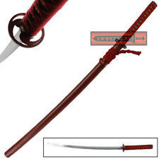 Carbon Steel Katana Sword Anime Blade Cosplay Replica Japanese Weapon Manga Wood
