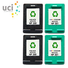 4 NonOEM Ink Cartridge For HP 350XL & 351XL Photosmart C5280 C4580 C5200 C4280