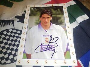 Raúl Gonzalez hand signed Real Madrid autograph card