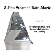 110V 5-Pan Steamer Bain-Marie Food Warmer Steam Table Buffet Countertop 1500W