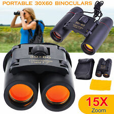Outdoor Travel 30 x 60 Zoom Folding Day Night Vision Binoculars Telescope Uk