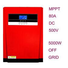 5000W Hybrid Inverter 48V 220V AC 80A MPPT Solar Charger Controller DC 500V PV
