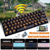 RK61 Wireless bluetooth Mechanical Keypad Backlight Gaming PC Dual mode RGB #FC