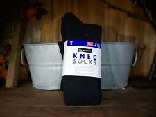 NO NONSENSE LADIES KNEE SOCKS 3 PAIRS FOR SHOE SIZE 4-10 COLOR BLACK WOMENS SOCK