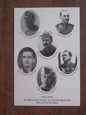 Vecchia foto cartolina d epoca delle Medaglie d oro al Valor Militare Cavalleria