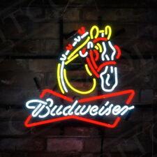 Bud Horse Neon SIgn Beer Pub Night Club Light Man Cave Patio Decor Artwork