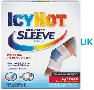 IcyHot Medicated Sleeve (Large) Ankle/Elbow/Knee Bandage Support Cream Wrap