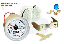 Manometro turbo 52 mm pressione auto kit tuning 2 bar boost strumento indicatore