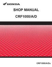 Honda CRF 1000 Africa Twin Service Repair Maintenance Workshop **PDF** Manual