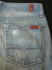 7 For all Mankind Jeans Mens Relaxed Light Weight Distressed Denim  31 X 28