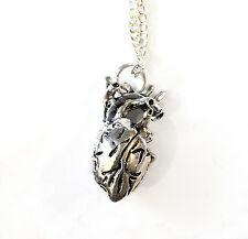 Anatomica Collana con pendente a forma di cuore catena di 18 pollici Emo Gothic