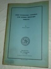 Vintage Post Exchange Canteen And Other Military Tokens By Curto 1954 Rare Book