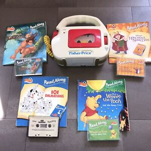 Vintage 1992 FISHER PRICE Cassette Tape Player 4 Children's Read Along Tape Book