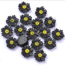 Wholesale 20pcs Gorgeous Sun Flower Resin Spacer Beads, Color Choose 12 mm