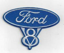 Larger FORD V8 Iron On Patch 4 inch x 3 inch APPROX BUY 2 WE SEND THREE